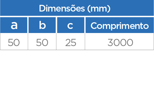 (ES 50) Espaçador - Medidas Técnicas