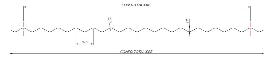 Ondulada - TB 17/980 - Desenho Técnico