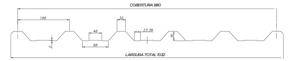 TRAPEZOIDAL TB TP 40980 - Desenho Técnico