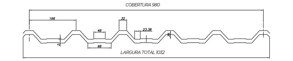 Trapezoidal-TB-40980-EPS-30 - Desenho Técnico